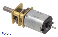 50:1 Micro Metal Gearmotor with Extended Motor Shaft