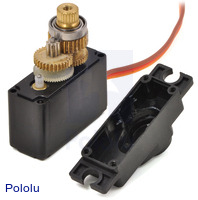 Power HD mini servo HD-1711MG with top of case removed.