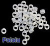 Nylon Spacer: 2mm Length, 5mm OD, 3.3mm ID (50-Pack)