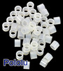 Nylon Spacer: 4mm Length, 5mm OD, 3.3mm ID (50-Pack)