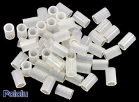 Nylon Spacer: 6mm Length, 4mm OD, 2.7mm ID (50-Pack)