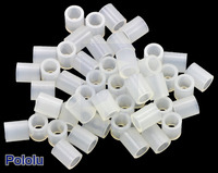 Nylon Spacer: 6mm Length, 5mm OD, 3.3mm ID (50-Pack)