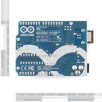 Arduino Uno DIP edition, bottom view.
