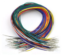 Wires with Pre-crimped Terminals 50-Piece Rainbow Assortment M-M 24""