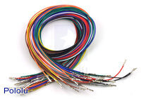 Wires with Pre-crimped Terminals 50-Piece Rainbow Assortment F-F 24""