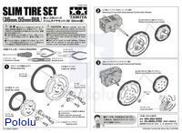 Instructions for Tamiya 70193 Slim Tire Set.
