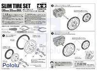 Instructions for Tamiya 70193 Slim Tire Set.