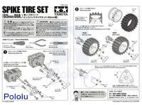 Instructions for Tamiya 70194 Spike Tire Set.