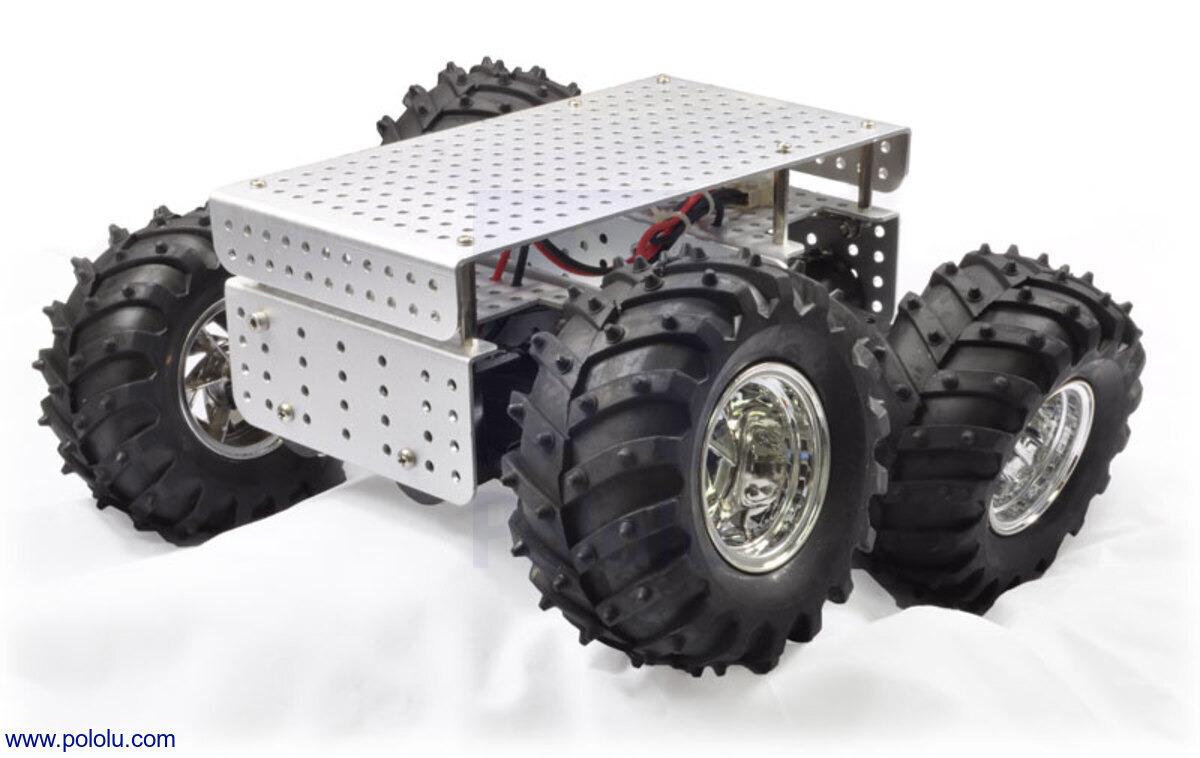 Pololu Dagu Wild Thumper 4wd All Terrain Chassis Black 751 Spdt Relay Canadian Tire Silver
