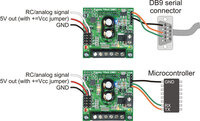TReX RC/serial input signal connections