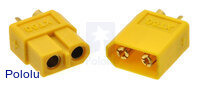 XT60 Connector Male-Female Pair, Yellow