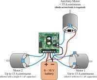 TReX motor connections (single battery)