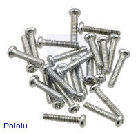 "Machine Screw: #2-56, 7/16"" Length, Phillips (25-pack)"