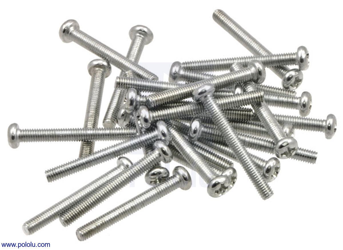 screw. Machine Screw: M3, 25mm Length, Phillips (25-pack) Screw