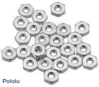 Machine Hex Nut: #4-40 (25-pack)
