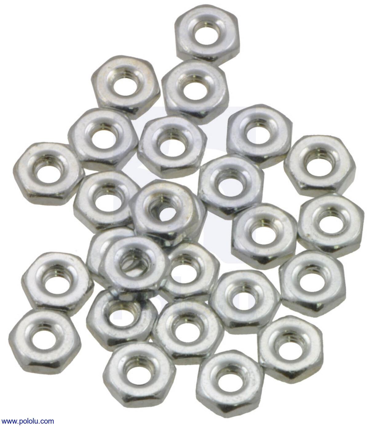 Machine Hex Nut 2 56 25 Pack
