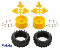 Parts included in the Tamiya 70194 Spike Tire Set.