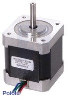 Stepper motor: unipolar/bipolar, 200 steps/rev, 42×48mm, 4V, 1200mA (SY42STH47-1206A).