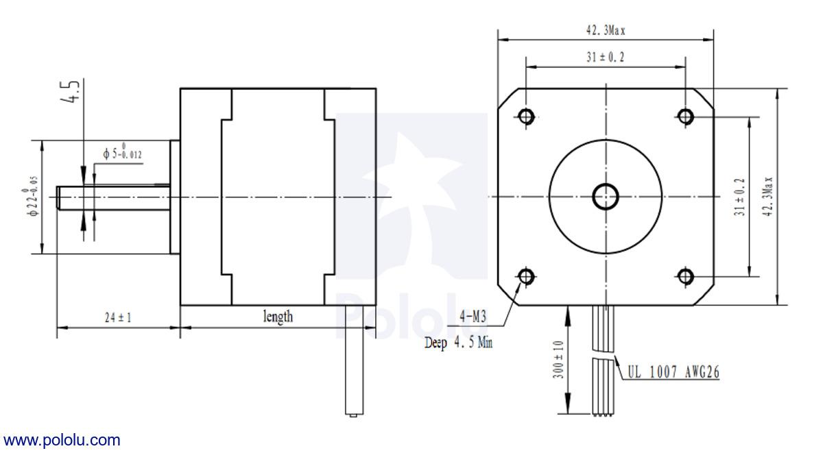 Nema 17 Stepper Motor Wiring Diagram. Diagram. Wiring