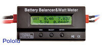 Battery Balancer & Watt Meter displaying readings in watt meter mode.