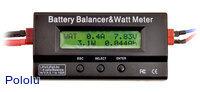 Battery Balancer & Watt Meter displaying readings in watt meter mode.