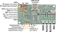 Simple Motor Controller 18v7 pinout and key components.