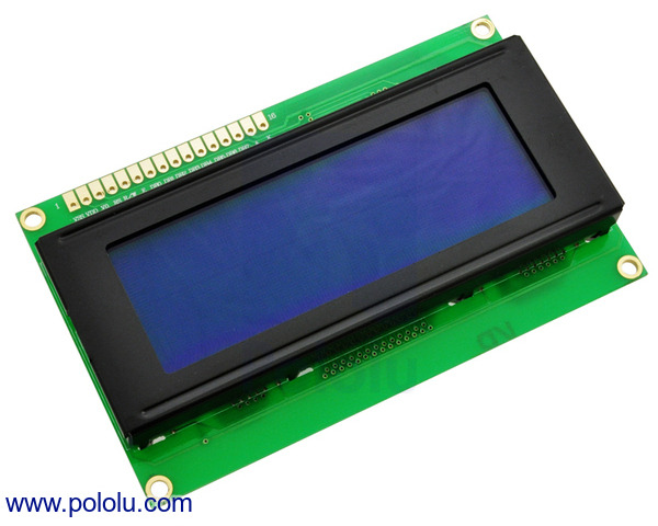 Pololu - 20×4 Character LCD with LED Backlight (Parallel Interface