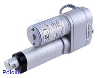 "Concentric LACT2P-12V-20 Linear Actuator with Feedback: 2"" Stroke, 12V, 0.5""/s"