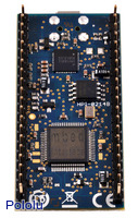 ARM mbed NXP LPC1768 development board, bottom view.
