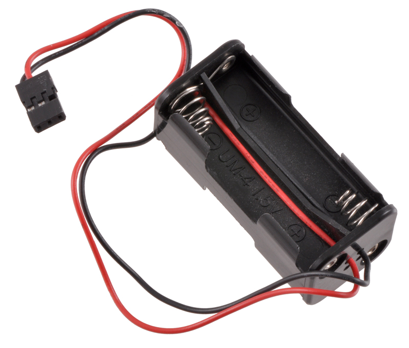 pololu introduction to servos battery holder for four aaa cells for rc receiver