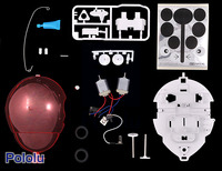 Parts included with the Tamiya 70195 Wall-Hugging Ladybug.