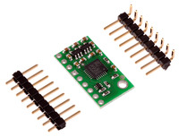 LSM303DLH/LSM303DLM 3D compass and accelerometer carrier with included hardware.