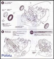 Instructions for Tamiya 70195 Wall-Hugging Ladybug page 5.