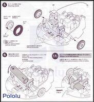 Instructions for Tamiya 70195 Wall-Hugging Ladybug page5.