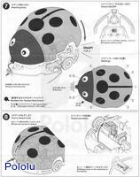 Instructions for Tamiya 70195 Wall-Hugging Ladybug page 6.