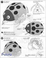 Instructions for Tamiya 70195 Wall-Hugging Ladybug page6.