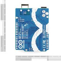 Arduino Uno SMD edition, bottom view.