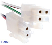 Female end of extension cable for Concentric LD linear actuators.