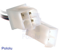 Male end of extension cable for Concentric LD linear actuators.