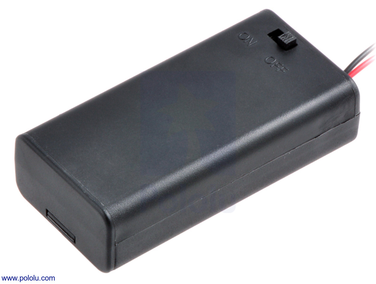 Pololu 2 Aa Battery Holder Enclosed With Switch