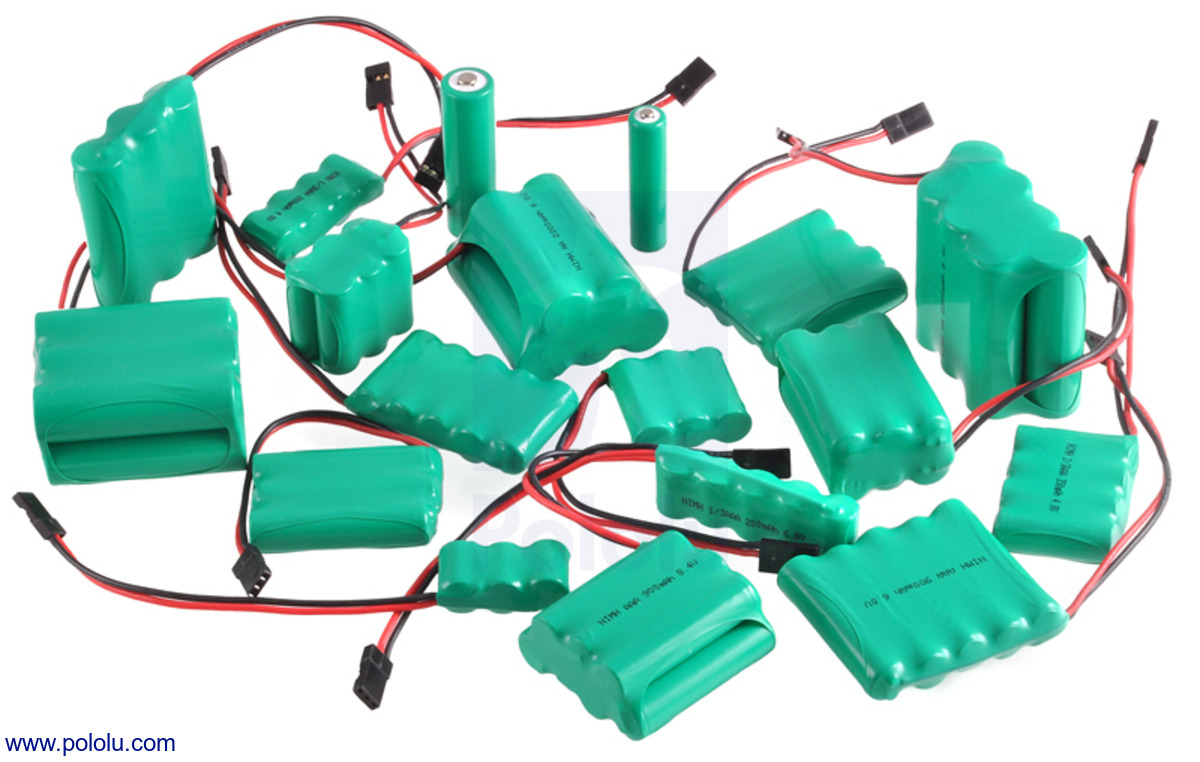Pololu - Rechargeable NiMH Battery Pack: 3.6 V, 2200 mAh, 3x1 AA ...