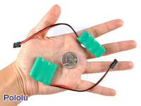 The smaller, 1/3- and 2/3-AAA NiMH battery packs are great for miniature robots.