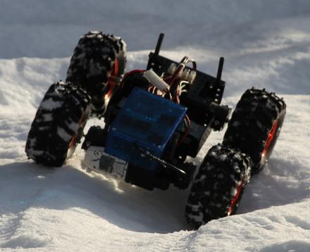 Snow-Boarduino 4WD robot
