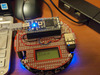 Home-made m3pi robot controlled by Bluetooth keyboard