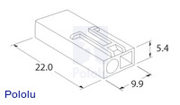 Male mini Tamiya plug dimensions (in mm).