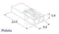 Male mini Tamiya plug dimensions (in mm).