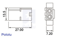 Male Tamiya plug dimensions (in mm).