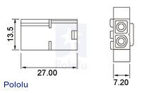 Male Tamiya plug dimensions (in mm).