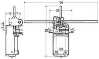 Tamiya 70103 Universal Gearbox Kit dimensions in mm.