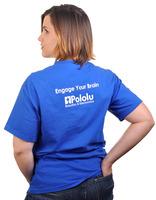 Pololu 2011 T-shirt, stylish rear view.